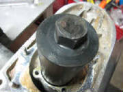 90295 Slide threaded bolt down thru old drive shaft bearing
