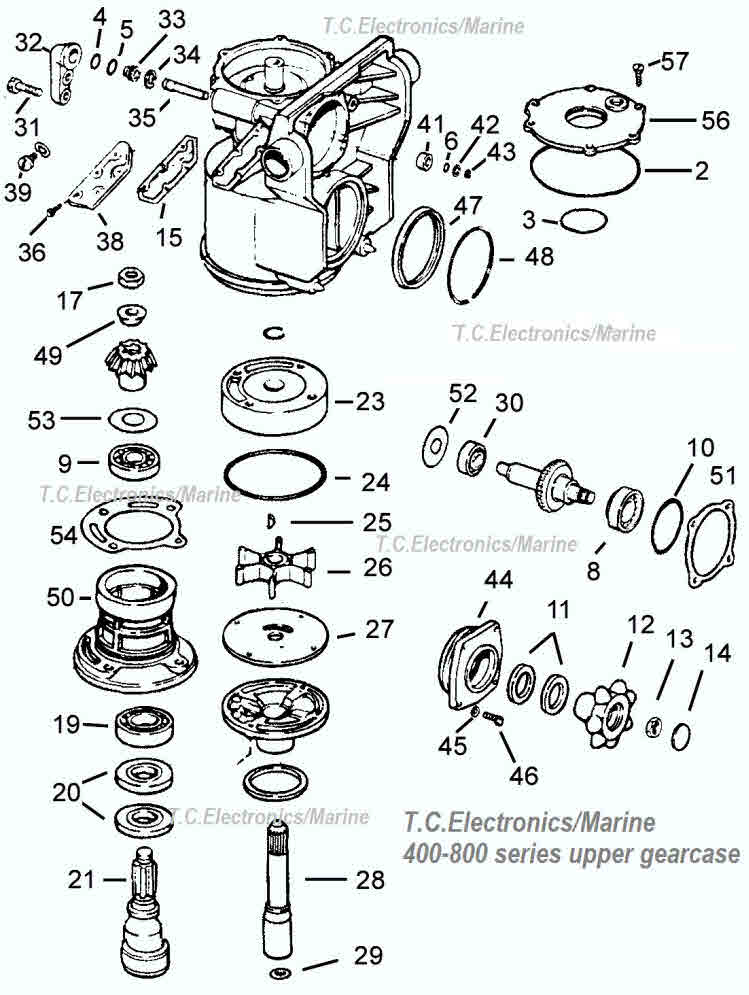 400-800 Series OMC parts drawing