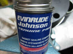 Johnson gasket sealing compound to reseal o-ring